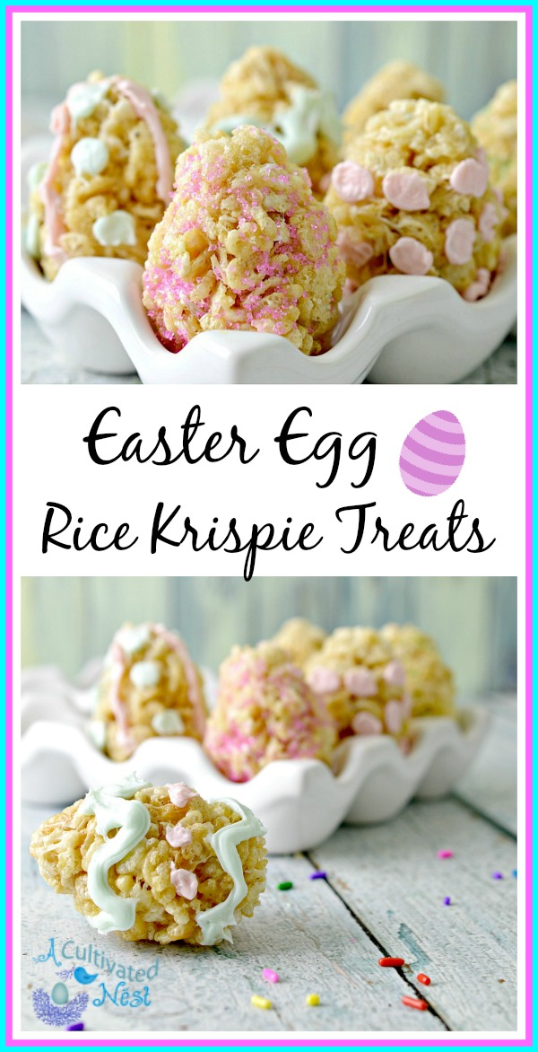 Easter Egg Rice Krispie Treats -Rice Krispie Treats are the perfect treat to bring to a party because who doesn't love them? Easter Egg Rice Krispie Treats are a pretty holiday treat