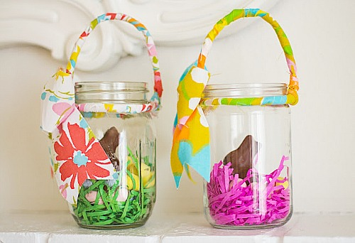 10 Cute Easter Treats In A Jar - Easter Mason Jar Basket