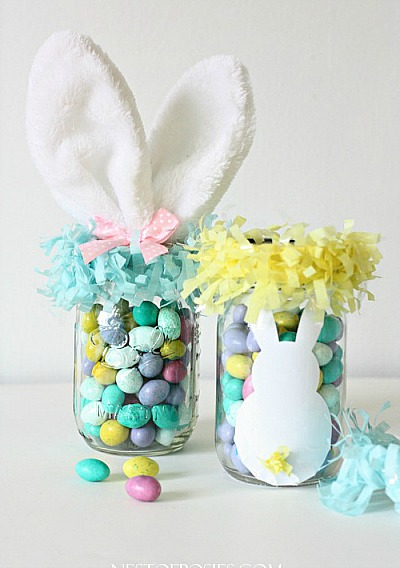 10 Cute Easter Treats In A Jar - Easter treat mason jar