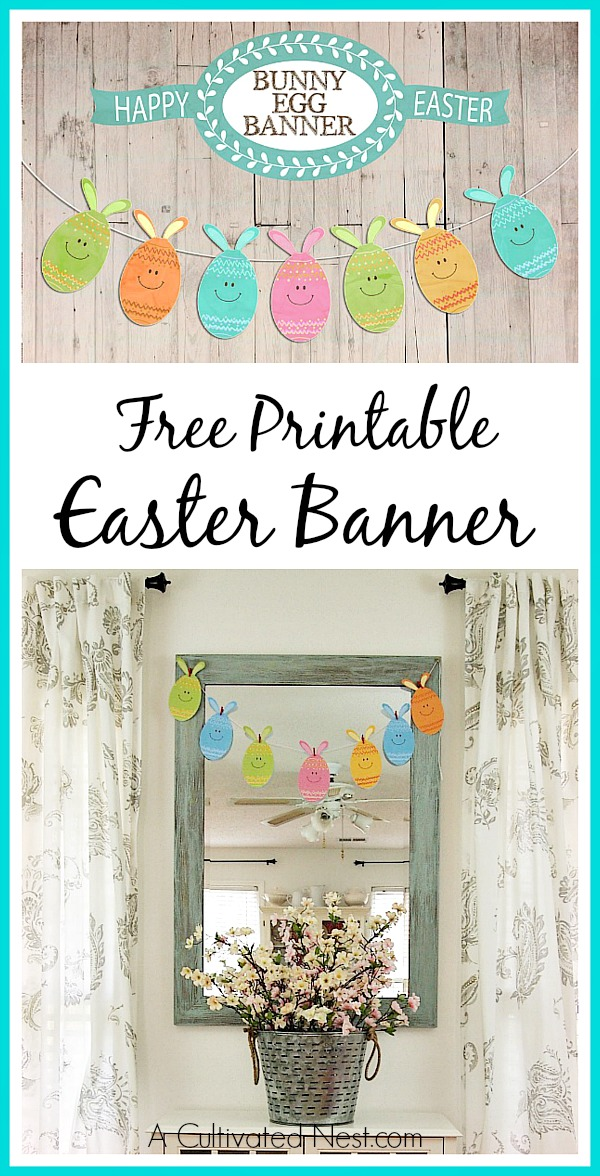 graphic relating to Easter Banner Printable called Lovable Cost-free Printable Easter Banner