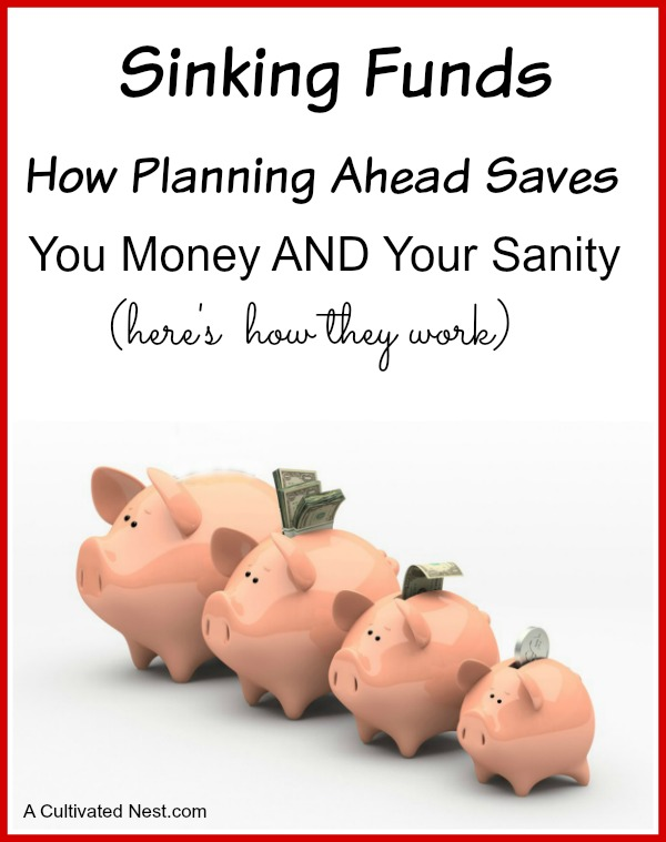 "How sinking funds work in a personal budget so that you can stop panicking about ""unexpected"" expenses. Budgeting, Dave Ramsey, Living on a budget, personal finance"