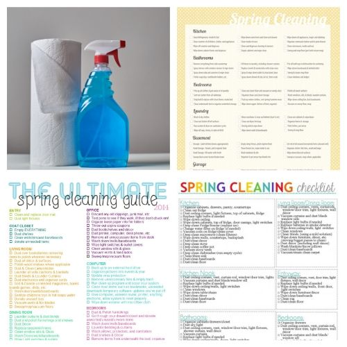 The Ultimate Spring Cleaning Guide - Spring Cleaning can be overwhelming! I've put together the Ultimate Spring Cleaning Guide with helpful spring cleaning checklists, challenges, calendars, and tips on the internet! | #ACultivatedNest