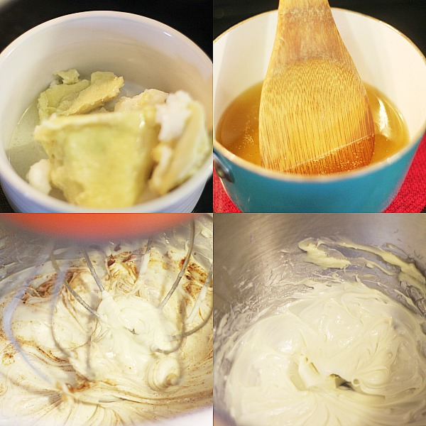 Directions for homemade whipped body butter