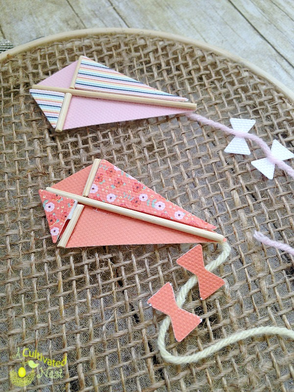 Directions for making spring craft - kite hoop art