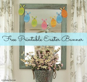 Cute Free Printable Easter Banner