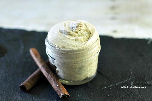 Homemade Cinnamon Vanilla Whipped Body Butter