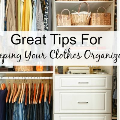 Tips for keeping your clothes organized