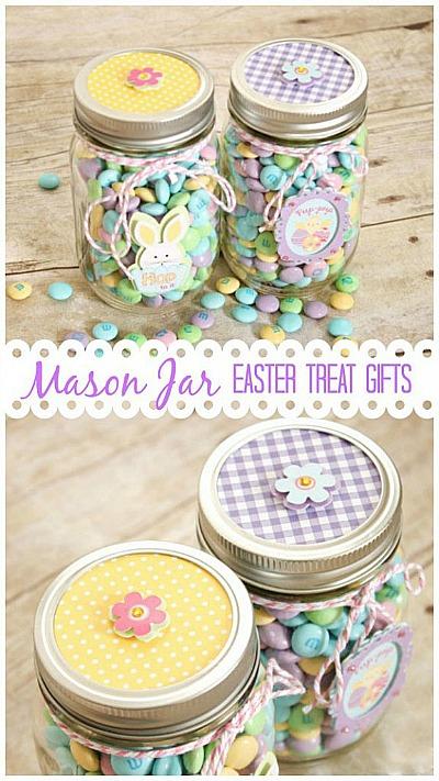 10 Cute Easter Treats In A Jar - Mason jar Easter treats