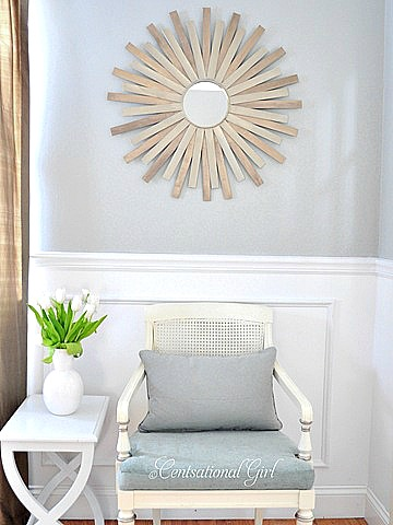 10 Easy Paint Stir Stick Projects - sunburst mirror