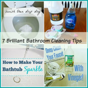 Homemaking Tips: 7 Bathroom Cleaning Tips