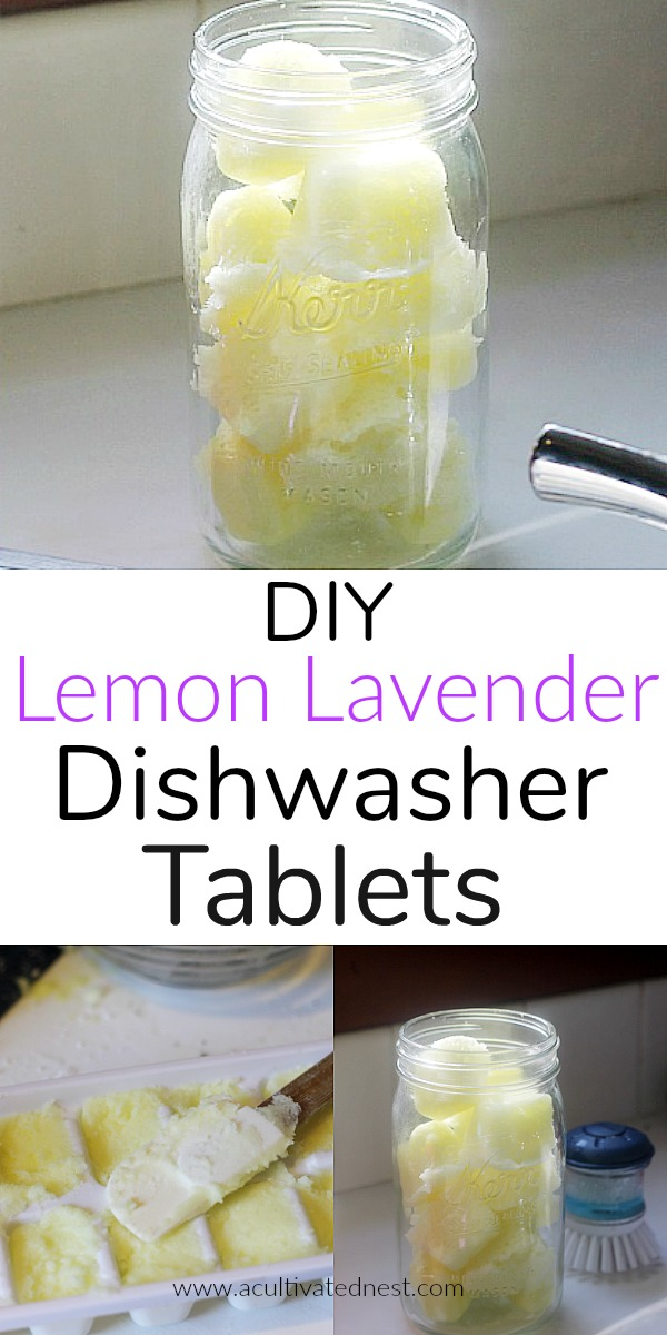 DIY Lemon Lavender Dishwasher Tablets! Making these homemade lemon lavender dishwasher tablets save me a ton of money, they smell divine, and it gives me a sense of accomplishment and control over my choices. It only takes 5 ingredients to make these! DIY, DIY cleaning recipes, homemade, dishwasher detergent, cleaning tips, homemaking