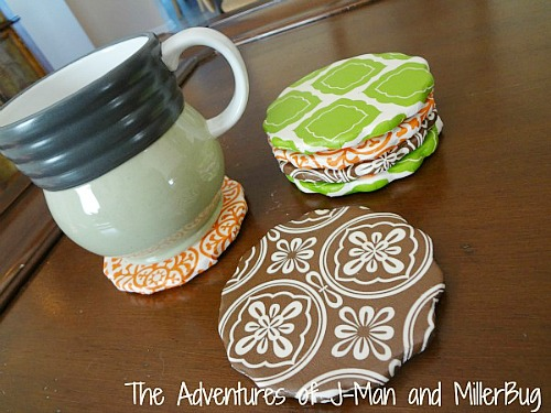Easy Mod Podge Projects: Decoupage tissue paper coaster