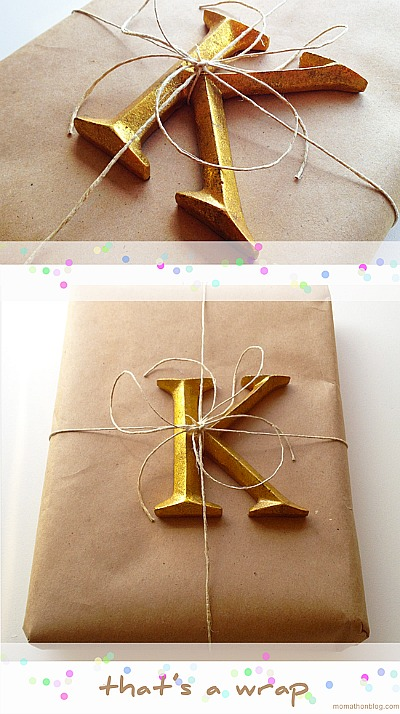 Brown Wrapping Paper Decorating Ideas