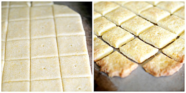 Directions for how to make homemade cheese crackers