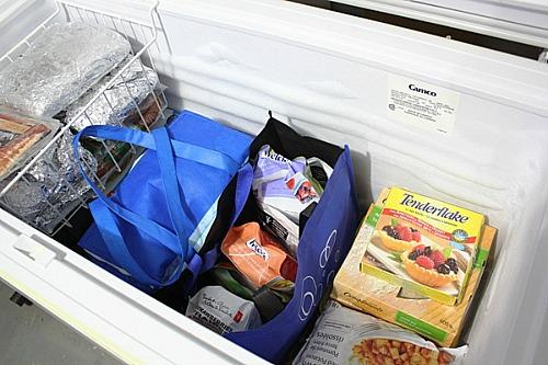 Chest freezer organization ideas