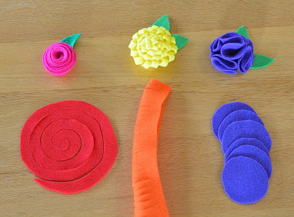 Instructions for felt flower project