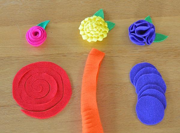 Instructions for felt flower project