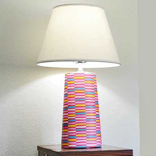 Cute Mod Podge Projects: Decoupaged Lamp Base