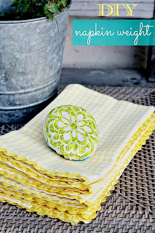 Easy Mod Podge Projects: decoupaged napkin weight