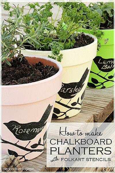 Mother's Day Gifts: Chalkboard Planters