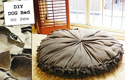 10 No Sew Home Decor Projects: DIY Dog Bed