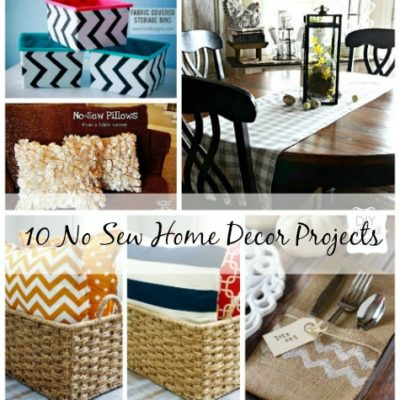 10 No Sew Home Decor Projects