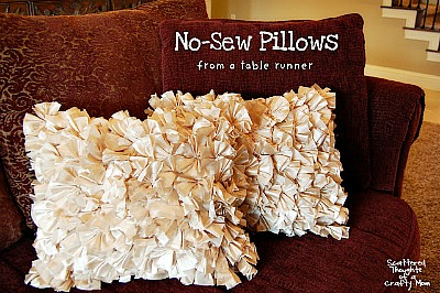 10 No Sew Home Decor Projects: ruffled pillows