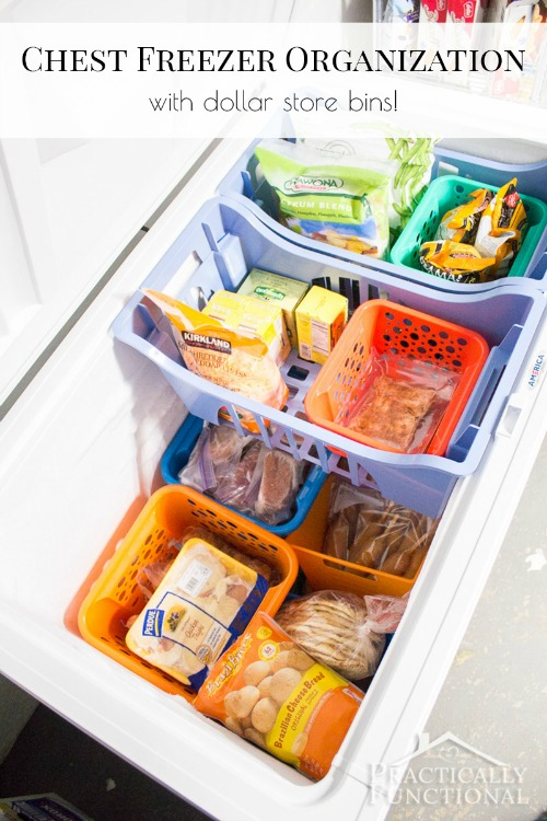 9 Ideas For Organizing a Chest Freezer- Tired of never knowing what's at the bottom of your freezer? Then you need to check out these 9 clever (and frugal) ways to organize a chest freezer! | how to organize the food in your freezer, organize your freezer meals, organize frozen food, #organizing #organization #organize #organizingTips #homeOrganization