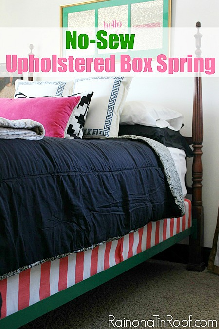 10 No Sew Home Decor Projects: DIY upholstered box spring