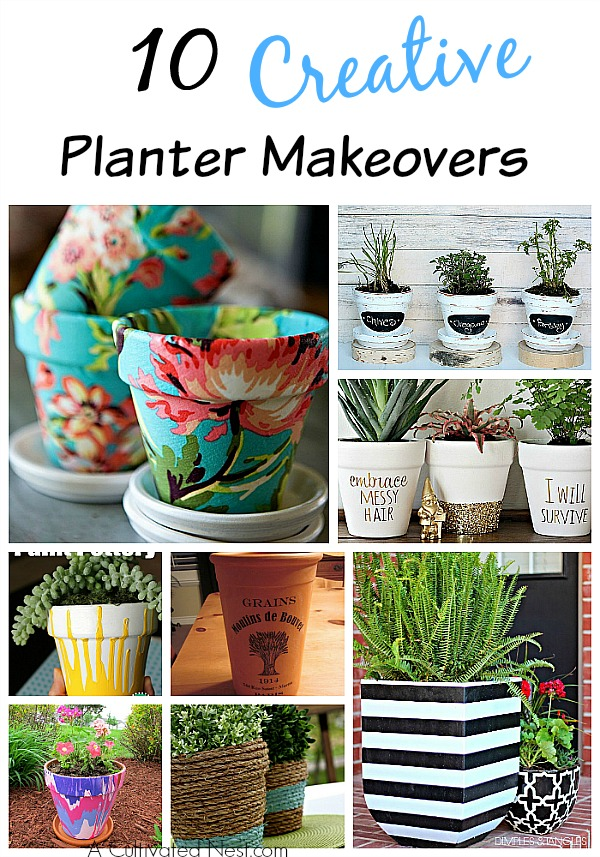 10 Creative DIY Planter Makeovers