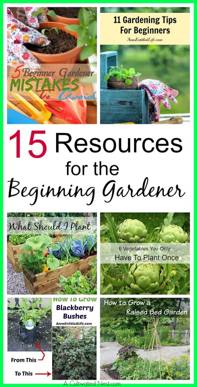 15 Resources For The Beginning Gardener