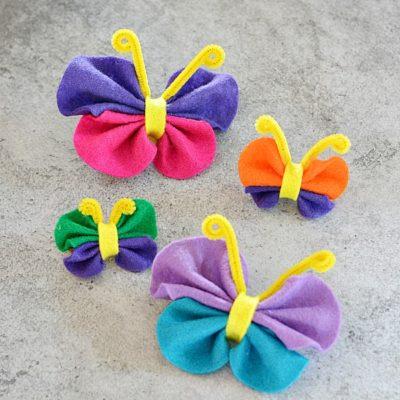 Easy No Sew Felt Butterfly Craft