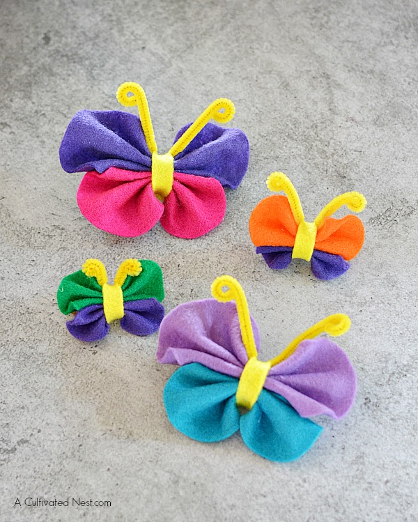 Easy No Sew Felt Butterfly Craft