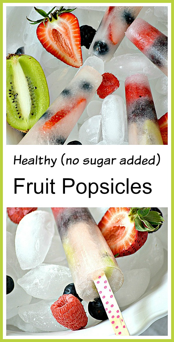 Easy to make Fresh Fruit Popsicles.