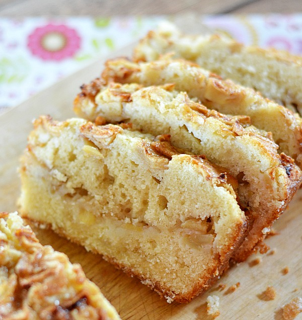 Homemade Apple Bread - It's dense, it's delicious and it's pretty easy to put together.