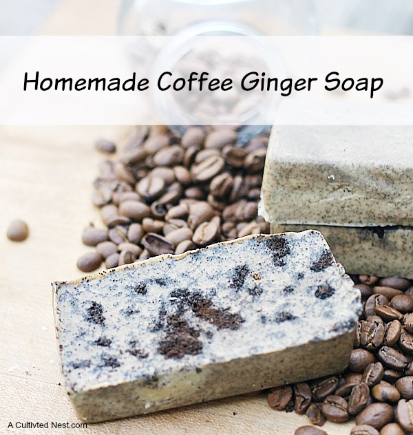 Easy To Make Coffee Ginger Soap