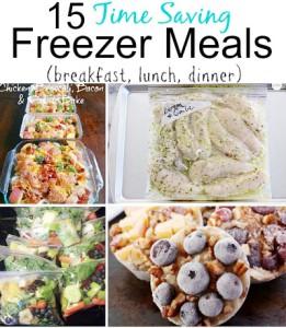 15 Time Saving Freezer Meal Recipes