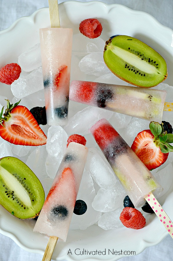 Easy to make healthy fruit popsicles
