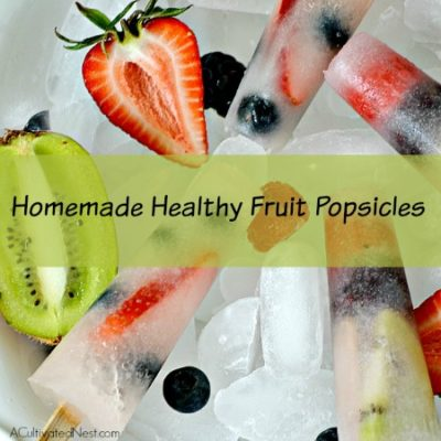 Homemade Healthy Fruit Popsicles
