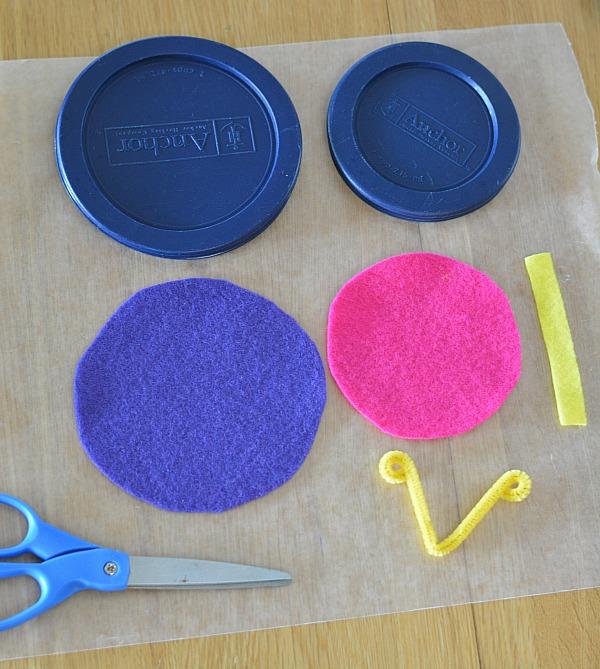 No Sew Felt Butterfly Craft Materials
