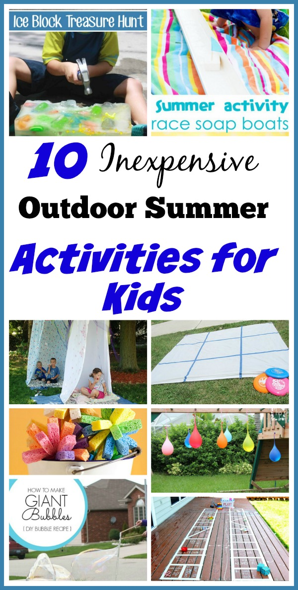 10 inexpensive outdoor summer activities for kids