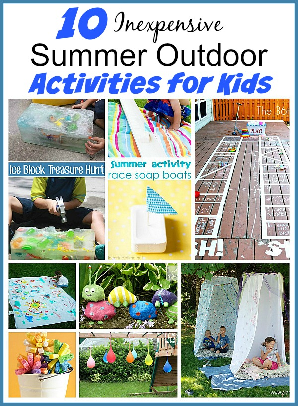 10 Inexpensive Summer Outdoor Activities for Kids
