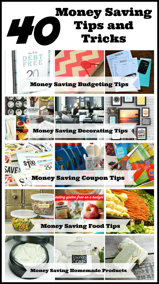 40 Money Saving Tips and Tricks- There are so many different and easy ways to make your money go farther, from simply managing your money better to reducing some expenses. Check out these 40 simple money saving tips and tricks! | #frugalLiving #saveMoney #moneySavingTips #ACultivatedNest