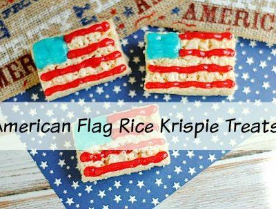 Easy American Flag Rice Krispie Treats