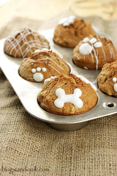 15 Homemade Dog Treats | Apple Crunch Pupcakes Homemade Dog Treats