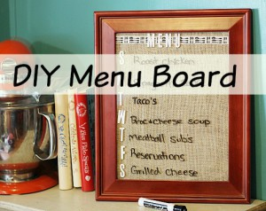 DIY Menu Planning Board: Easy & Inexpensive!
