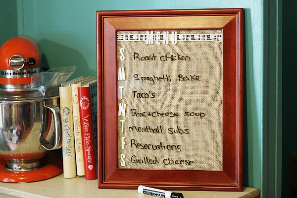 DIY Wipe Off Menu Board