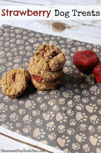 15 Homemade Dog Treats | Strawberry Homemade Dog Treats