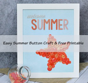 Easy Summer Button Starfish Craft & Printable