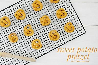 Sweet Potato Pretzel Dog Treats
